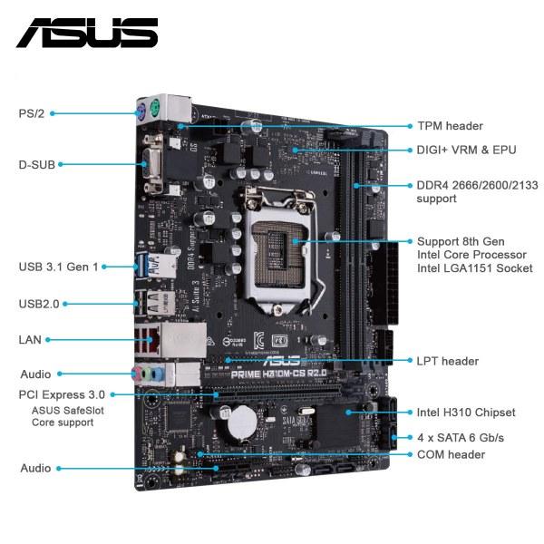 ASUS Prime H310M Intel gaming motherboard